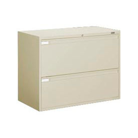 """Global 9300 Series 36""""W 2 Drawer Binder Lateral File Putty by"""