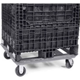 """Buckhorn Steel Dolly For Container - DY4840090099001 - 48x40 Footprint, 2 Swivel, 2 Rigid 5"""" Casters"""