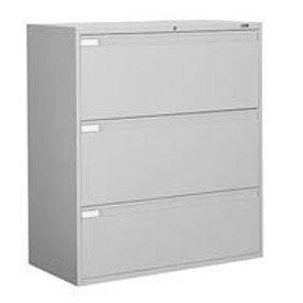 "Global™ 9300 Series 36""W 3 Drawer Binder Lateral File - Gray"
