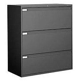 "Global 9300 Series 36""W 3 Drawer Binder Lateral File Black by"
