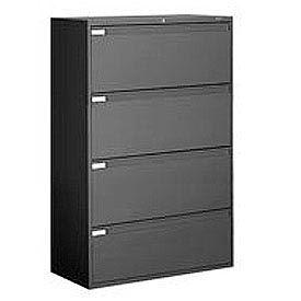 "Global™ 9300 Series 36""W 4 Drawer Binder Lateral File - Black"