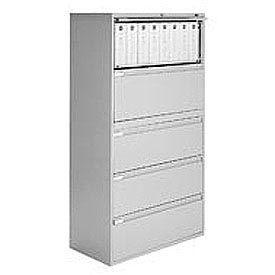 "Global™ 9300 Series 36""W 5 Drawer Binder Lateral File - Gray"