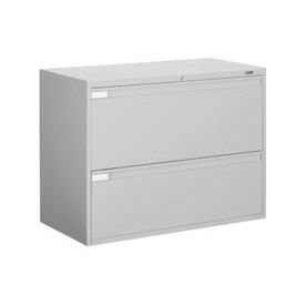 "Global™ 9300 Series 42""W 2 Drawer Binder Lateral File - Gray"