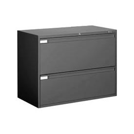 "Global 9300 Series 42""W 2 Drawer Binder Lateral File Black by"