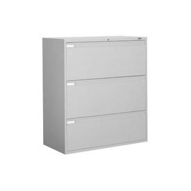 "Global 9300 Series 42""W 3 Drawer Binder Lateral File Gray by"