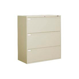 """Global™ 9300 Series 42""""W 3 Drawer Binder Lateral File - Putty"""