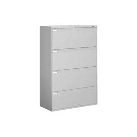 "Global™ 9300 Series 42""W 4 Drawer Binder Lateral File - Gray"