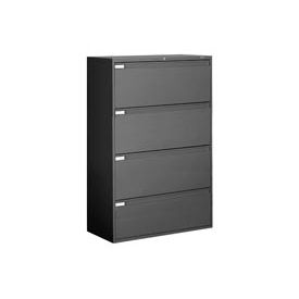 "Global™ 9300 Series 42""W 4 Drawer Binder Lateral File - Black"