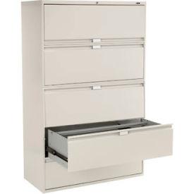 "Global™ 9300 Series 42""W 5 Drawer Binder Lateral File - Gray"
