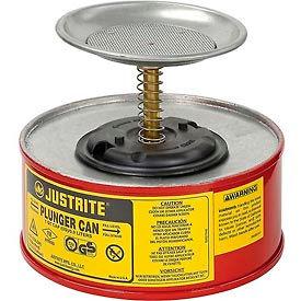 Justrite Safety Plunger Can - 1 Quart Steel, 1010-8