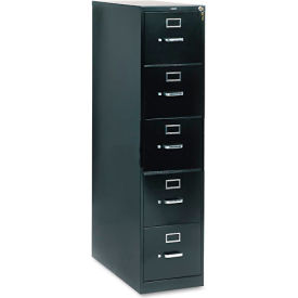 "28-1/2"" 5 Drawer Vertical File - Letter - Black"