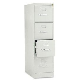 "HON® 25""D 4 Drawer Vertical File - Letter - Gray w/ Lock"