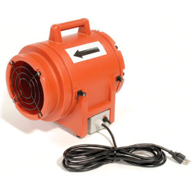 "Euramco Safety 8"" Portable Ventilation Fan K20 1/3 HP 980 CFM"
