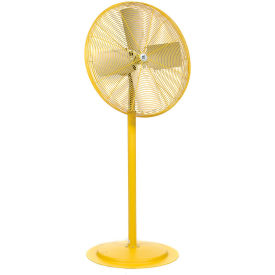 TPI 24 Pedestal Fan Non Oscillating Yellow 1/2 HP 8600 CFM 1 PH Totally Enclosed Motor