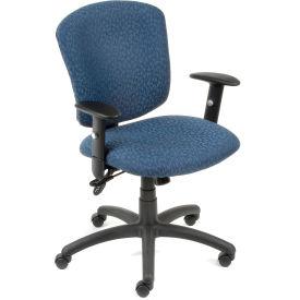 Global™ Supra Task Chair - Blue Fabric Upholstery