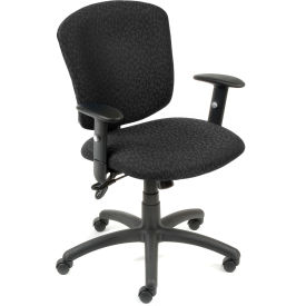 Global™ Supra Task Chair - Black Fabric Upholstery