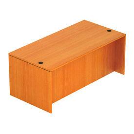 71 Inch Rectangular Desk Shell in Medium Cherry - Executive Modular Furniture