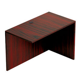 """Offices To Go™ Return Desk - 42""""W x 24""""D x 29-1/2""""H - Mahogany"""