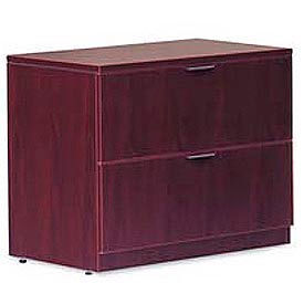 Offices To Go™ Two Drawer Lateral File in Mahogany - Executive Modular Furniture