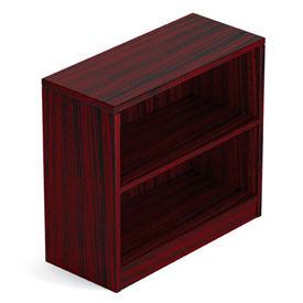 Offices To Go™ 1 Shelf Bookcase in Mahogany - Executive Modular Furniture