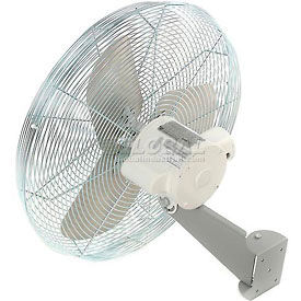 TPI IHP24-H-WD-W, 24 Inch Washdown Rated Wall Mount Fan 1/3 HP 4300 CFM