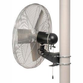 TPI IHP30-H-277-PM, 30 Inch Pole Mount Fan 1/3 HP 5400 CFM 1 PH 277V Totally Enclosed Motor