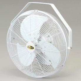 """J&D 18"""" Fan With Wall Ceiling Bracket 1/5 HP 1550 CFM, White"""