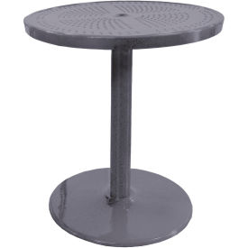 """Leisure Craft 36"""" Perforated Outdoor Pedestal Table - Gray"""