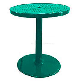 """Leisure Craft 36"""" Perforated Outdoor Pedestal Bar Table - Green"""