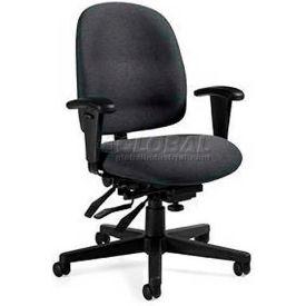 Global™ Multi-Tilter Office Chair - Fabric - Low Back - Gray - Granada Series