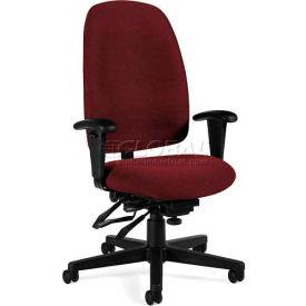 Global™ Multi-Tilter Office Chair - Fabric - High Back - Burgundy - Granada Series