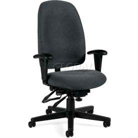 Global™ Granada High Back Multi-Tilter Chair - Grey Fabric Upholstery