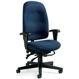 Global™ Granada High Back Multi-Tilter Chair - Blue Fabric Upholstery