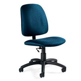 Chairs Fabric Upholstered Global Goal Task Chair Pneumatic Height Adjus