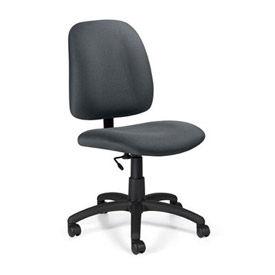 Global™ Goal™ Task Chair Pneumatic Height Adjustment - Stone