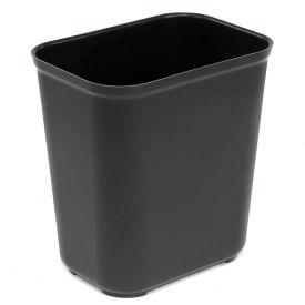 Rubbermaid 7 Gallon Fire Resistant Fiberglass Wastebasket - Black