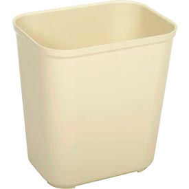 Rubbermaid 7 Gallon Fire Resistant Fiberglass Wastebasket - Beige