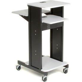 Global Industrial™ Projector Presentation Cart - Gray & Black