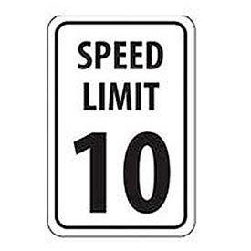 "Aluminum Sign -  Speed Limit 10 - .063"" Thick, TM18H"