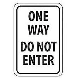 """Aluminum Sign -  One Way Do Not Enter - .063"""" Thick, TM73H"""