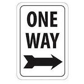 """Aluminum Sign -  One Way Right Arrow - .063"""" Thick, TM23H"""