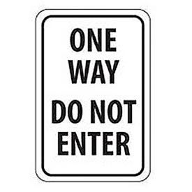 "Reflective Aluminum Sign - One Way Do Not Enter  - .080"" Thick, TM73J"