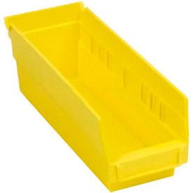 """Quantum Plastic Shelf Bin - QSB201  4-1/8""""W x 11-5/8""""D x 6"""" H Yellow - Pkg Qty 36"""