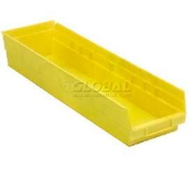 """Quantum Plastic Shelf Bin - QSB206 6-5/8""""W x 23-5/8""""D x 6""""H Yellow - Pkg Qty 8"""