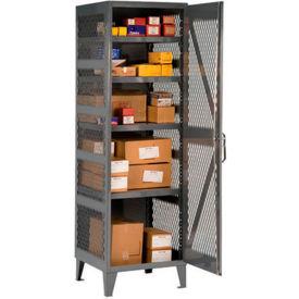 """Durham Welded Mesh Side Storage Locker VSC-242478-95 - 24""""W x 24""""D x 78""""H"""
