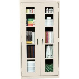 Sandusky Clear View Storage Cabinet CA4V361272 -36x12x72, Putty