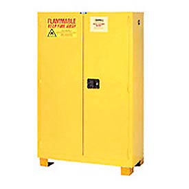 "Jamco Flammable Cabinet FM44 - with Legs - Manual Close Double Door 44 Gallon - 34""W x 18""D x 69""H"