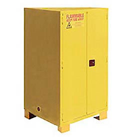 "Jamco Flammable Cabinet FM60 - with Legs - Manual Close Double Door 60 Gallon - 34""W x 34""D x 69""H"