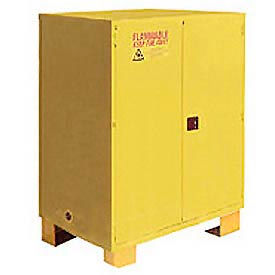 "Global™ Flammable Cabinet With Legs - Manual Close Double Door 120 Gal - 59""W x 34""D x 69""H"