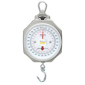 """Hanging Scale 540 x 2lb / 250 x 1kg 7-1/2"""" Dial With Hook"""